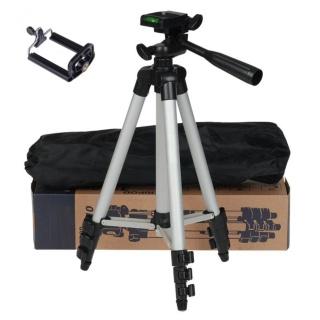 Gậy 3 chân máy ảnh quay phim Tripod 3110 tặng kèm túi đựng và kẹp điện thoại Dũng thumbnail