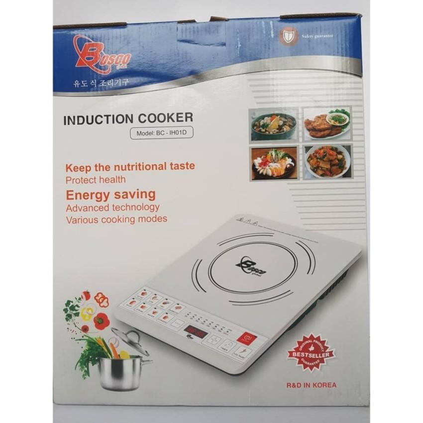 Bếp từ đơn cao cấp Bosco BC IH01D Korea Tặng nồi lẩu 30cm trị giá 180K
