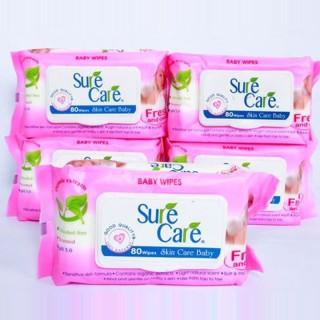 Bịch Khăn giấy ướt Sure Care 80 miếng cho Mẹ và Bé thumbnail