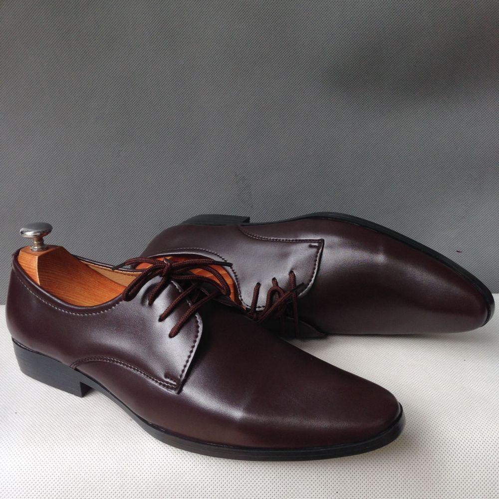 [ SALE XẢ KHO ] Giày tây nam da màu nâu kiểu dáng cột dây thời trang đẹp gí rẻ bán chạy- Gn05