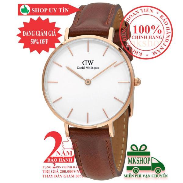 Đồng hồ nữ Daniel WeIlington Classic Petite St Mawes- 32mm- Màu vàng hồng (Rose Gold), mặt Trắng (Silver) DW00100175