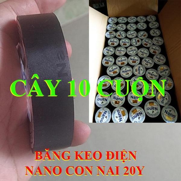 Mua 10 cuộn Băng dính điện băng keo điện CON NAI 20Y - BĂNG KEO ĐIỆN - BĂNG KEO ĐEN