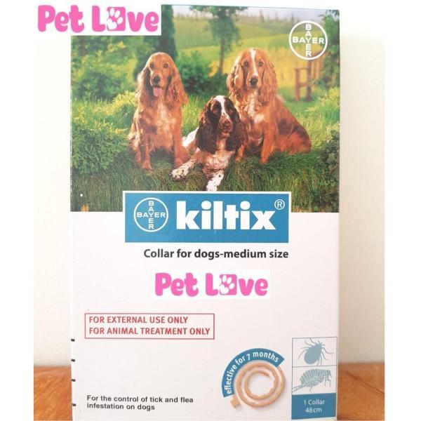 Vòng đeo cổ Kiltix trị ve, bọ chét (chó dưới 20kg)