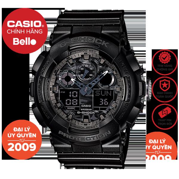 Đồng hồ Nam dây da Casio G-Shock GA-100CF-1A chính hãng bảo hành 5 năm Pin trọn đời bán chạy