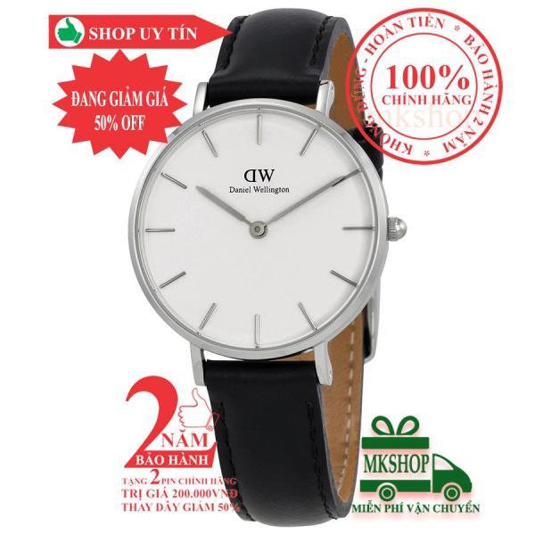 Đồng hồ nữ DanieI Wellington Classic Petite Sheffield- 32mm-màu Bạc (Stainless Steel), mặt trắng (Silver) DW00100186