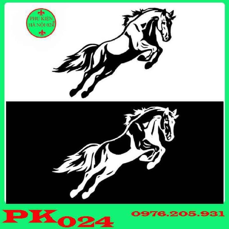 Sticker Hình Ngựa Phi Dũng Mãnh Dán Trang Trí Thân Xe Ô Tô