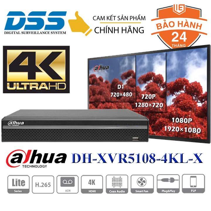 Đầu ghi hình camera 8 kênh 4mpx Full 4K Dahua DH-XVR5108HS-4KL-X DSS Việt Nam