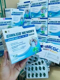Viên uống Hoạt huyết, bổ não GINKGO Memory TB - Tăng cường tuần hoàn não, giảm nguy cơ di chứng sau tai biến mạch máu não - Hộp 120 viên chuẩn GMP Bộ Y tế thumbnail