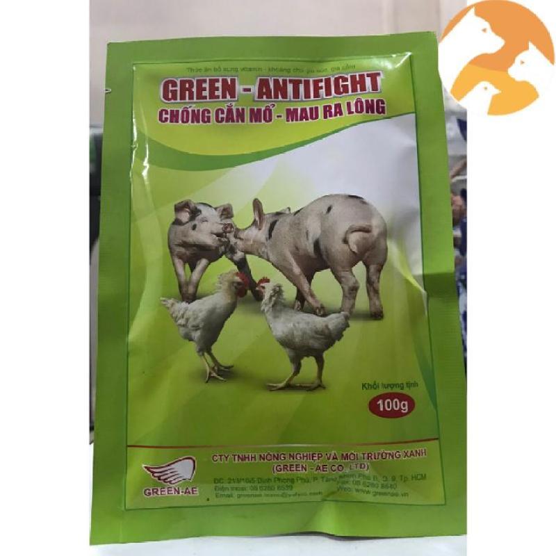 Green Antifight [100 g] Thuốc gà đá chống cắn mổ, mau ra lông