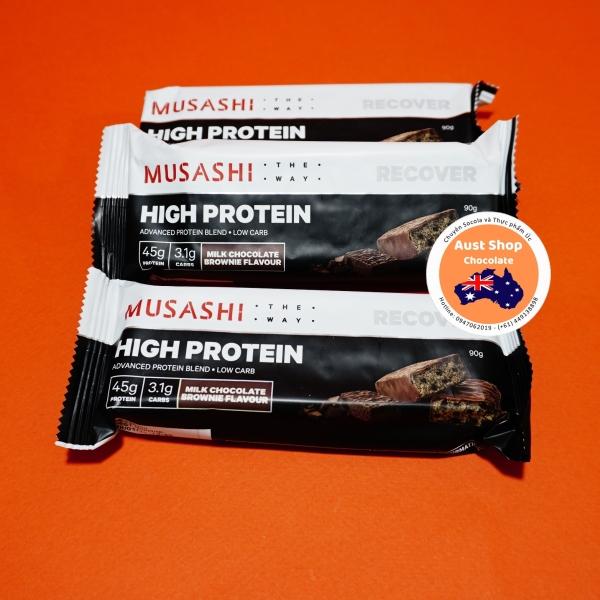 MUSASHI high Protein Bar [3 thanh gửi ngẫu nhiên] - Ngũ cốc thanh dinh dưỡng (pack of 3 randomly selected) - Hàng Úc - Aust Shop Chocolate cao cấp