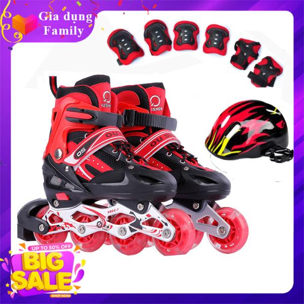 Giá bán Giày Trượt Patin, Combo giày trượt Patin, Tặng Kèm Bộ Bảo Hộ (Mũ Bảo HIểm và Bảo Vệ Tay Chân)