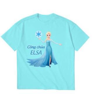 Áo thun bé gái in hình dễ thương M24 Thương Hiệu Elsa thumbnail