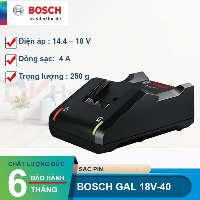Sạc nhanh Bosch GAL 18V-40 (14.4V, 18V)