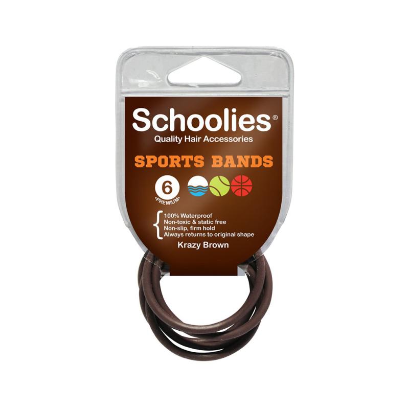 6 dây cột thể thao Schoolies Úc nhiều màu cho bé, chất liệu co giãn tốt, êm chân tóc, không thấm nước