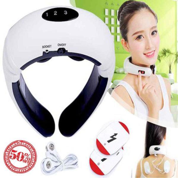 Máy Massage Cổ 3D Thông Minh , Máy Mát Xa Nhật Bản Rung Kết Hợp Xung Điện Từ Trường, Xua Tan Đau Nhức Vai Gáy, Lưng Hiệu Quả