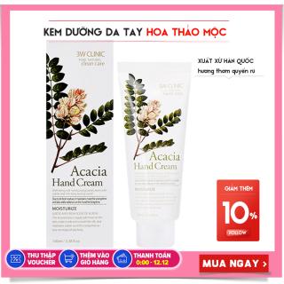 Kem Dưỡng Da Tay 3W Clinic Acacia Hand Cream hương thảo mộc 100ml thumbnail