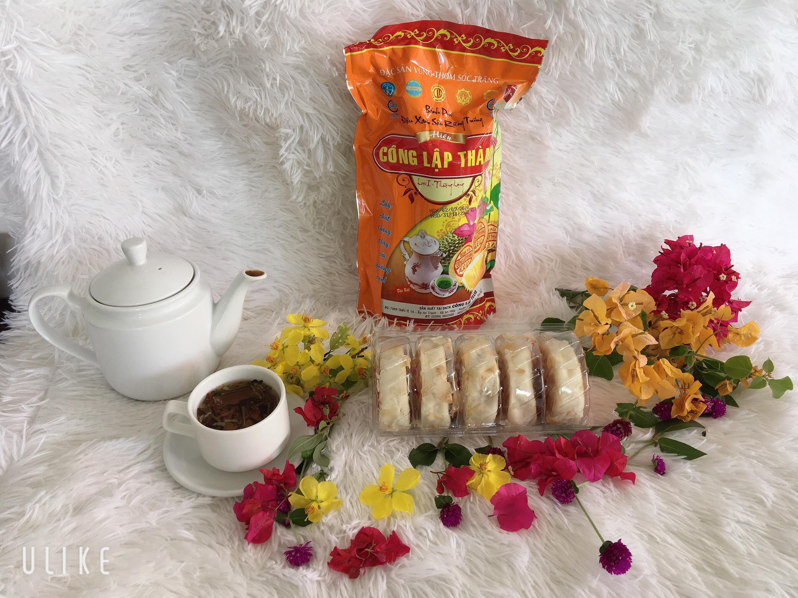 Bánh Pía Đậu Xanh Sầu Riêng Trứng Muối 500gam Công Lập Thành