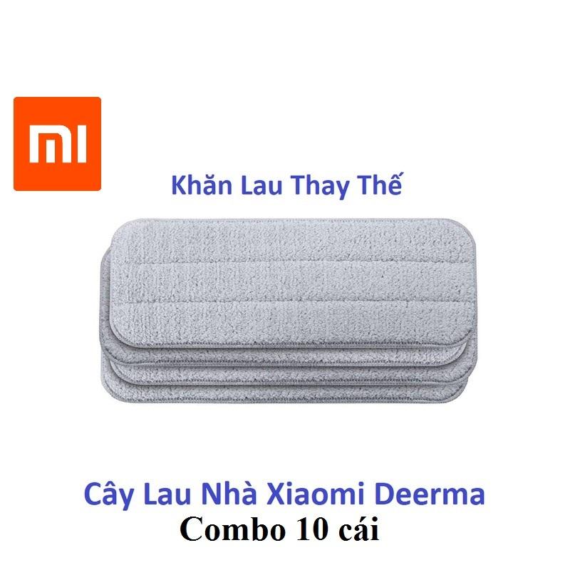 Khăn thay thế cây lau nhà phun nước Xiaomi Deerma (combo 10 cái)
