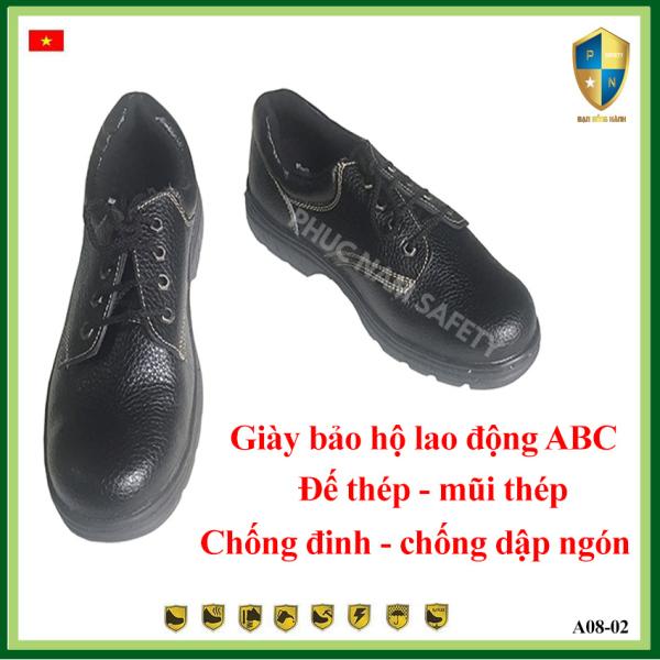 Giá bán Giày bảo hộ lao động ABC-BH08-3, giày bảo hộ lao động nam, giày bảo hộ lao  động chống đinh, giày chống đập ngón, giày bảo hội lao động giá rẻ, Bảo hộ lao động Phúc Nam