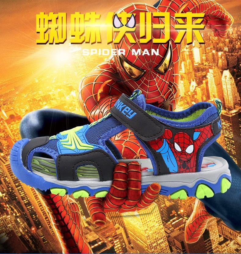 sandal Bé Trai Siêu Nhân Nhện Size 26-30 Hàng Cao Cấp