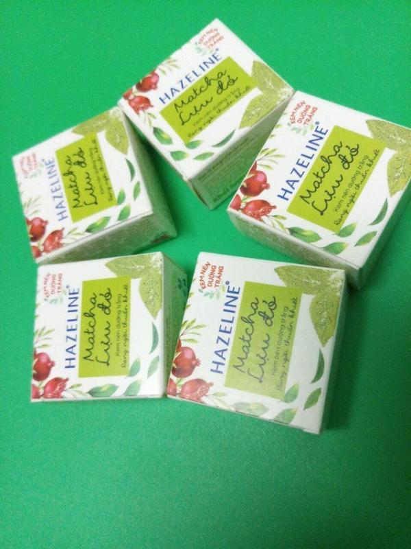 Combo 10 hộp kem nén hazeline matcha lựu đỏ 3g nhập khẩu