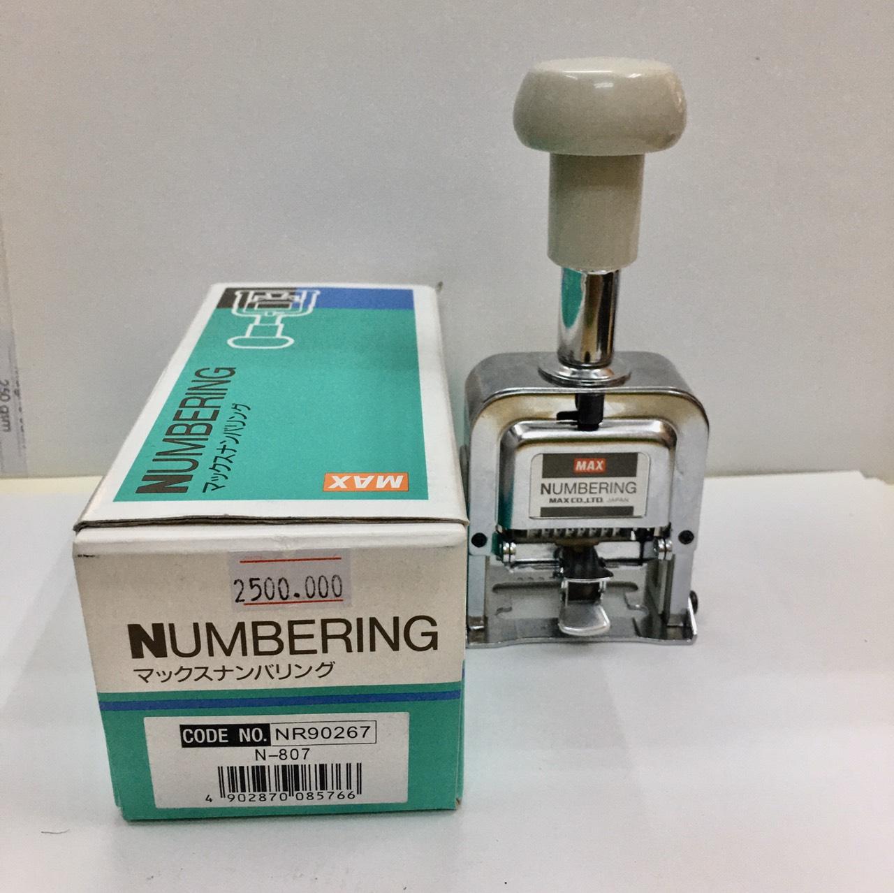 Máy đóng số nhảy MAX 8 số 5mm N807 siêu bền Numbering Machine ...