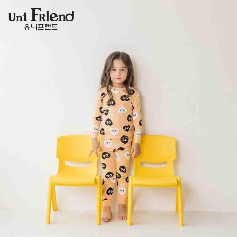 Nơi bán Đồ bộ mặc nhà bé gái Unifriend thun dài hoạ tiết trái tim nhí U8FWTD36