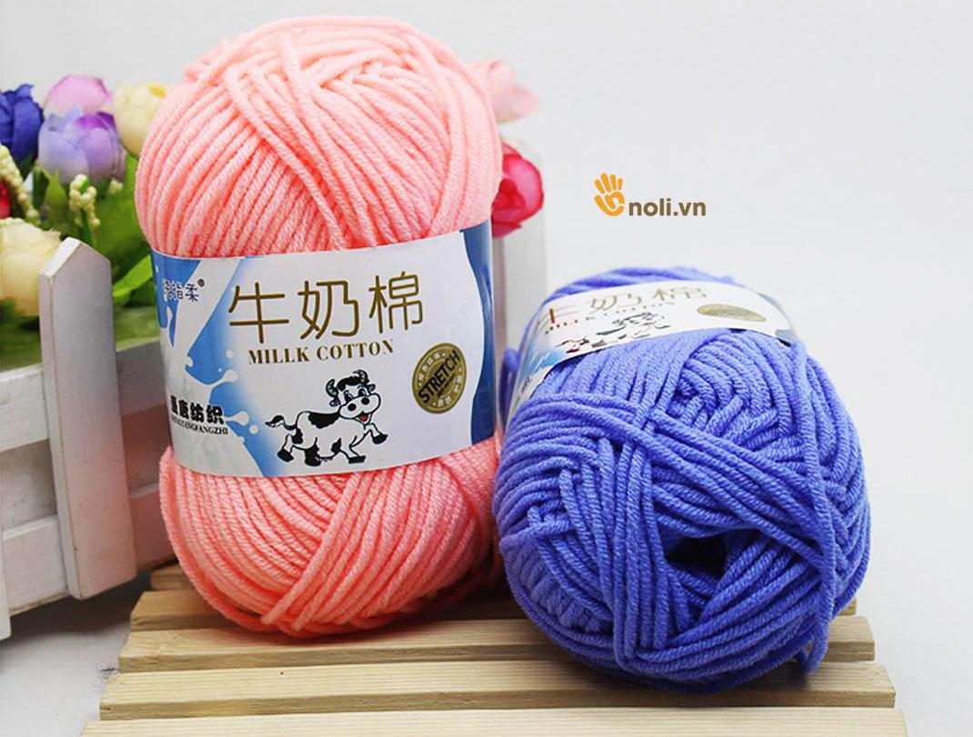 Len Milk bò 50g sợi mềm chuyên đan móc
