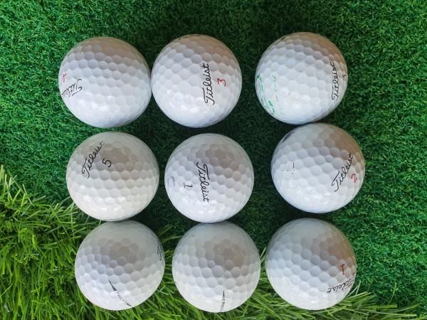 ComBo 10 Quả Bóng Golf Titleist Pro V1, Bóng Chính Hãng hàng đẹp