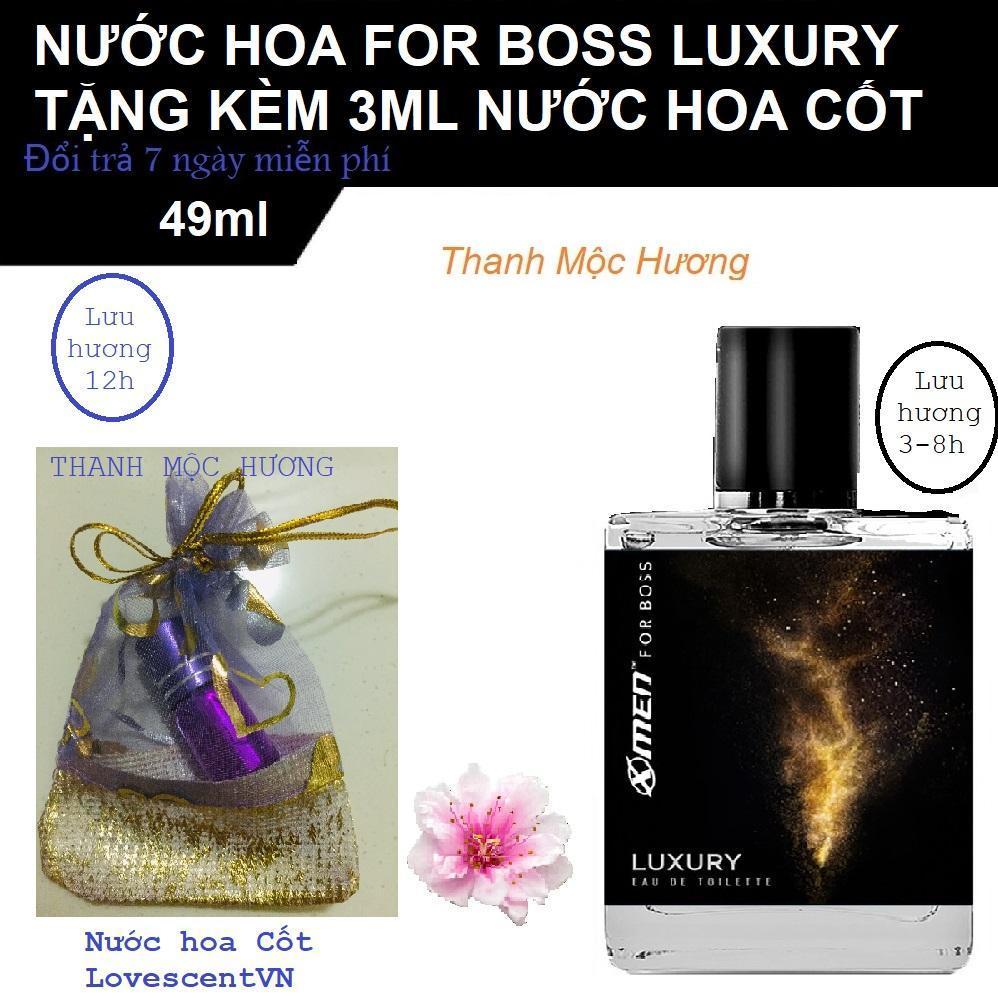 Nước hoa Xmen For Boss Luxury tặng kèm nước hoa Cốt 3ml Lưu hương 12h