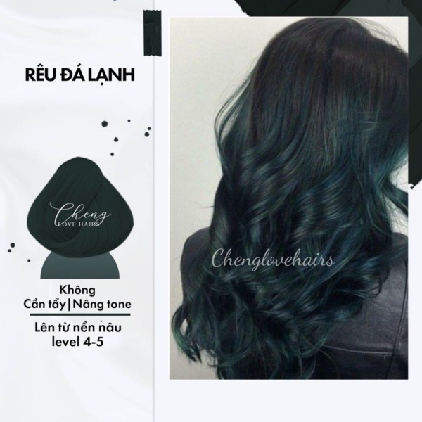 Nhuộm tóc RÊU ĐÁ LẠNH Chenglovehairs, Chenglovehair không cần tẩy