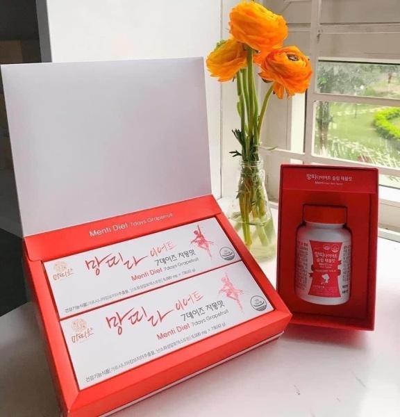 Bộ đôi Giảm cân Korea Menti Diet cao cấp