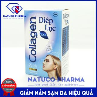Viên uống trắng da Collagen Diệp Lục Gold (Cyan) - giúp giảm nám da, sạm da, nhăn da, làm đẹp da hiệu quả- Kết hợp Collagen, diệp lục, Vitamin E - Hộp 30 viên dùng 2 tuần thumbnail
