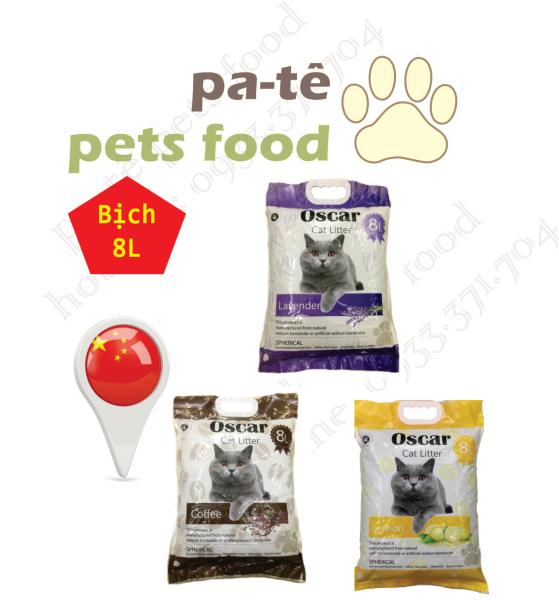 Cát Vệ Sinh Cho Mèo Oscar 8L Siêu Vón Cục Khử Mùi