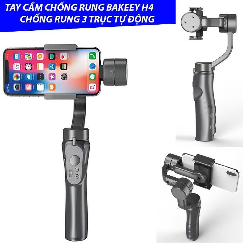 Giá Gimbal Tay cầm chống rung Bakeey H4 3 Trục Bluetooth Gimbal Ổn Định Có Kẹp cho Iphone XS X XR 8 plus 8 dành cho Samsung dành cho Máy Ảnh GoPro