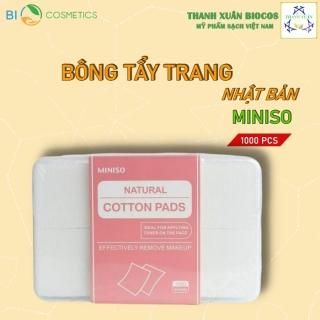 Hộp Bông Tẩy Trang Miniso 1000 Miếng Vuông Của Nhật Bản, Làm Từ Cotton 1 Lớp Siêu Mỏng, Dùng Đắp Toner, An Toàn Cho Da thumbnail