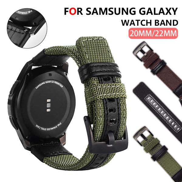 Dây Đeo Nylon 20Mm Dành Cho Đồng Hồ Samsung Gear Sport /Gear S2 Classic/ Galaxy 42Mm/Active 1 2 / Samsung Watch 3 41Mm. Dây Đồng Hồ Nylon 22Mm Cho Samsung Watch 3, Đồng Hồ 45Mm/Gear S3 Frontier/Gear S3 Classic/Gear S3 /GALAXY 46Mm