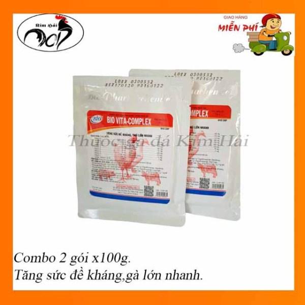 thuốc thú y-Vita Bcomplex[combo 2 gói x100g ] gà con mau lớn-giúp nâng cao sức đề kháng và thiếu hụt vitamin chất khoáng quá trình phát triển của gà con gà tơ.