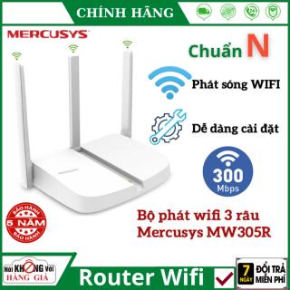 Bộ Phát Wifi Mercusys 3 râu MW305R chuẩn N 300Mbps , Thiết kế nhỏ gọn , cài đặt dễ dàng , Router Wifi Chuẩn N , Router mercusys , kích wifi thumbnail