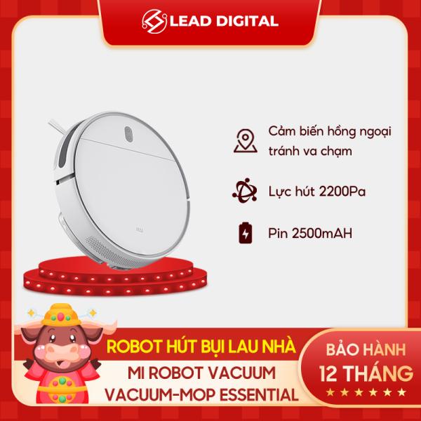 TRẢ GÓP 0% | [GLOBAL VERSION] Robot hút bụi lau nhà thông minh Xiaomi Mi Robot Vacuum Mop Essential - Điều khiển Mi Home, kết nối Wifi, Hỗ trợ Google Assistant + Alexa - BH Chính hãng12 tháng
