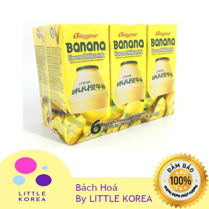 Coupon Giảm Giá Sữa Chuối Binggrae Hàn Quốc Hộp 6 Hộp X 200ml
