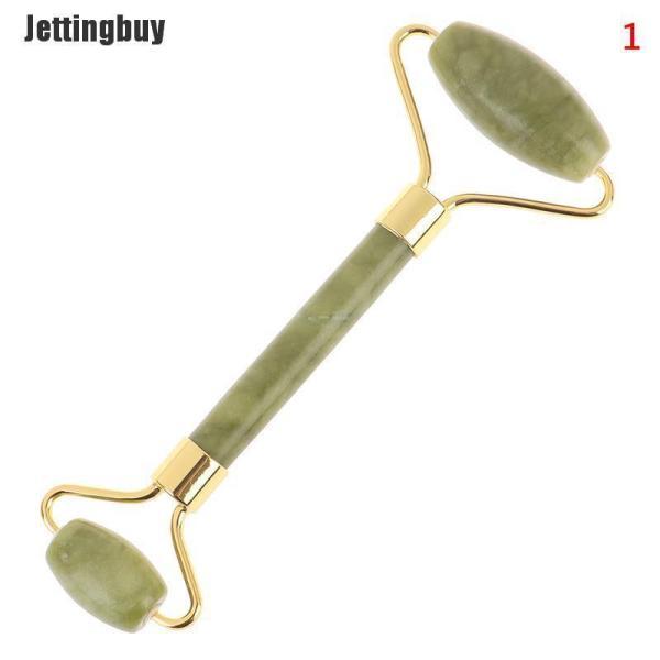 Jettingbuy Con lăn mát xa mặt bằng đá ngọc bích tự nhiên giúp giảm căng thẳng và chăm sóc da - INTL cao cấp