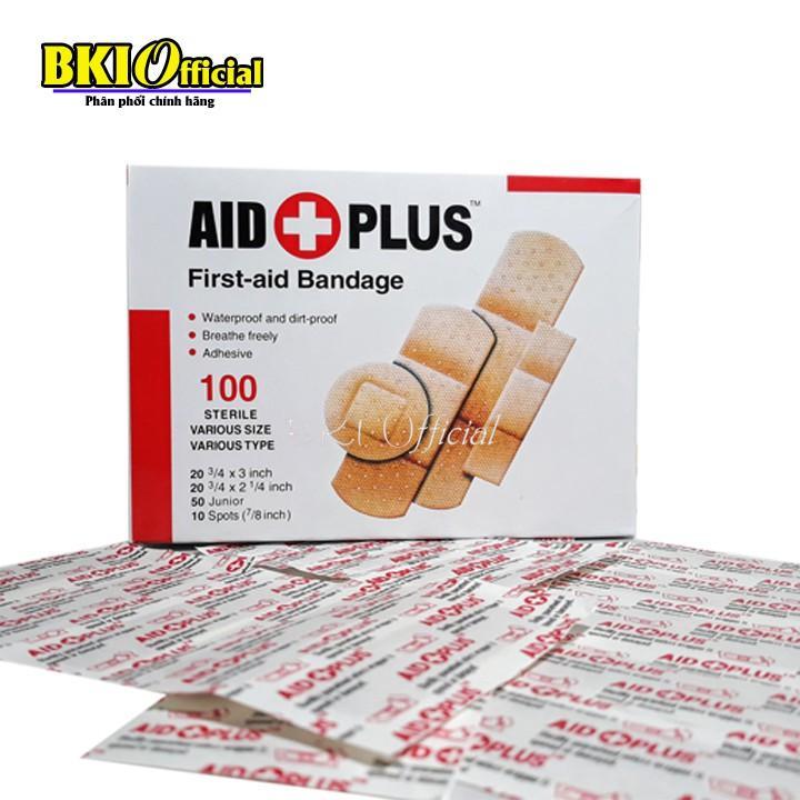 Hộp 100 Miếng Băng Dán Vết Thương - Băng y tế URGO AID FIRST cao cấp