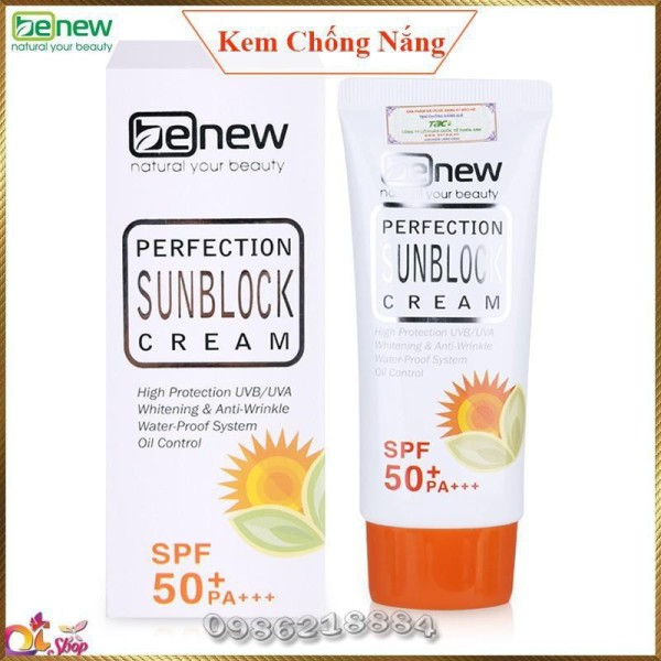 Kem chống nắng dưỡng trắng Benew Hàn Quốc Perfect Sunblock PS85