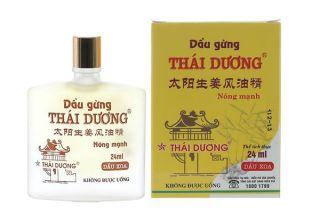 [HCM]Dầu gừng Thái Dương chai ( 24ml )Thương hiệu Sao Thái Dương thumbnail