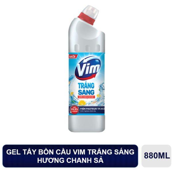 (MỚI) Chai tẩy bồn cầu VIM 880ml - Trắng Sáng- Hương Chanh Sả- Sạch Khuẩn 99,9%