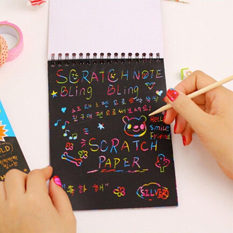 Mua Sổ Scratch Note - Sổ Than Ma Thuật Cầu Vồng A6 - Sổ Nhật Kí