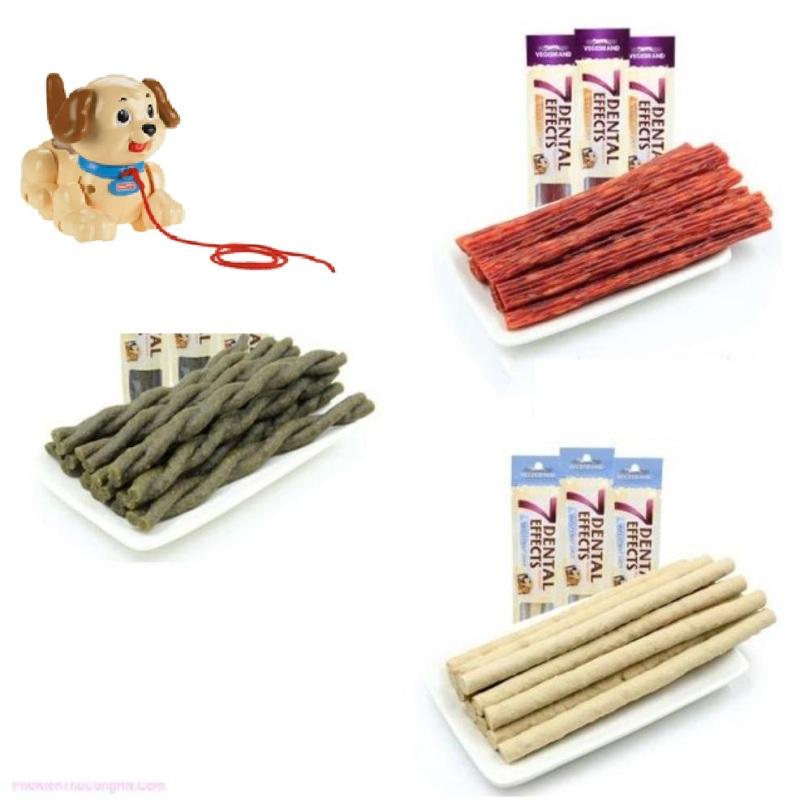 HCM- Túi 10 cái- Xương que cho chó gặm phù hợp với chó  dưới 7kg / thức ăn chó / bánh thưởng chó / xương chó gặm / xương đũa chó / xương nhai sạch răng chó / xương gặm thơm miệng chó