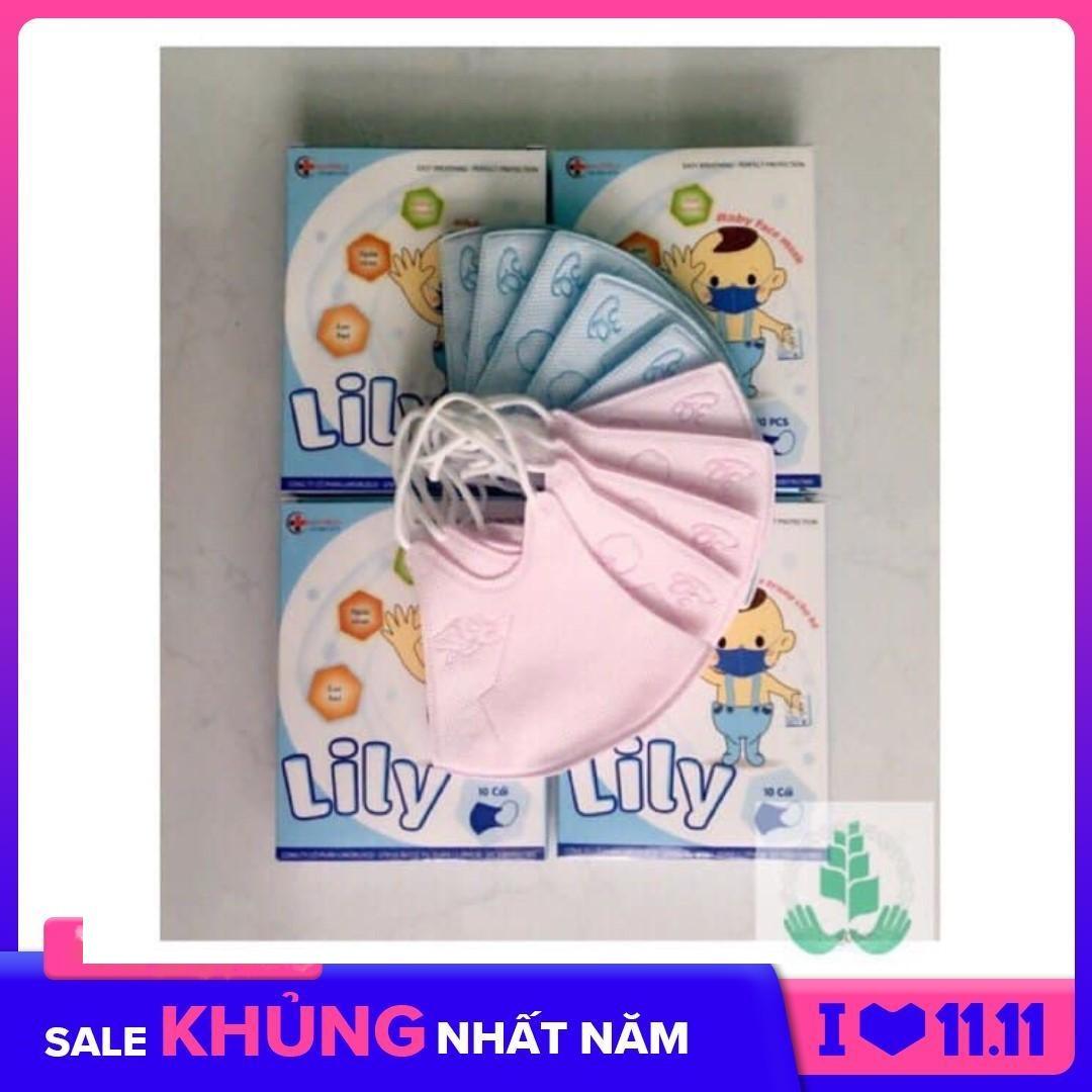 Khẩu Trang Em Bé Lily Hộp 10 Cái Chắc Chắn, Không Dễ Rách, Dành Cho Trẻ Sơ Sinh đến 8 Tuổi Giảm Cực Đã