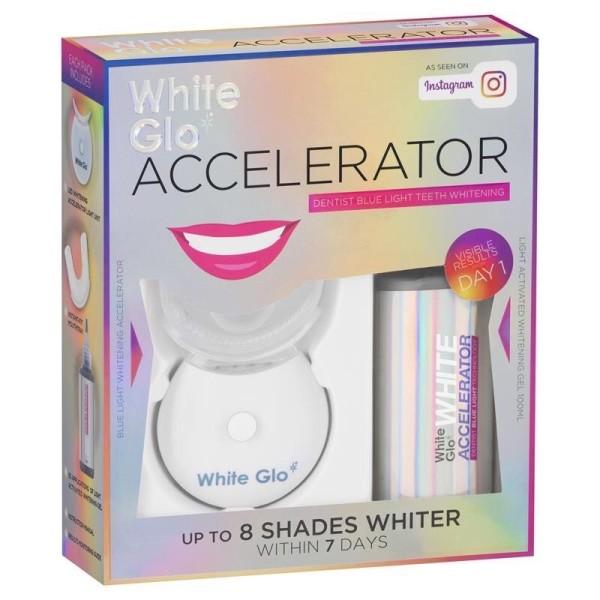 Bộ Kích Trắng Răng Bằng Ánh Sáng Xanh White Glo White Accelerator Blue Light Teeth Whitening System